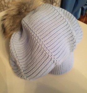 Шапка и шарф комплект новый