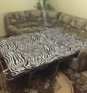 Угловой диван с французской раскладушкой