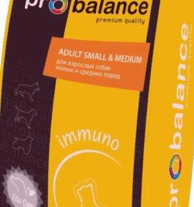 Корм ProBalance Immuno Adult Small&Medium 15кг