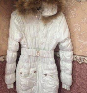 Болоневое,зимнее пальто