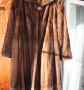 Огромная норковая шуба 62-64