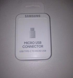 Переходник с microUSB на typeC