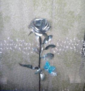 Розы из оцинковки