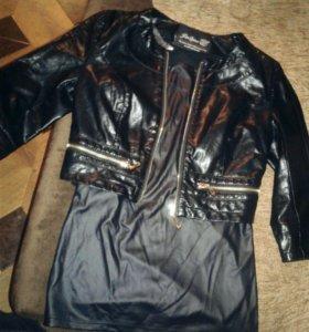 Кожанная куртка и кофта