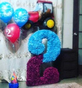Цифра два двоечка на день рождения