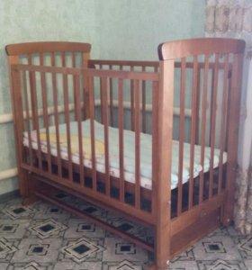 детская кроватка-мачтник