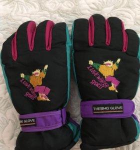Зимние болоневые перчатки мужские