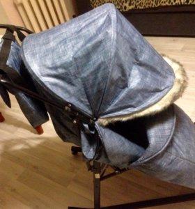 Санки-коляска с мехом
