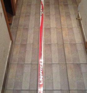Лыжи без креплений+ палки