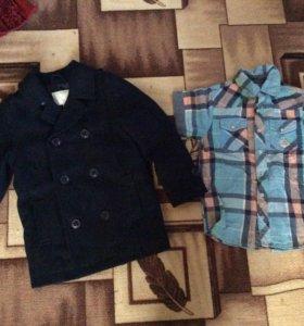 пальто и рубашка на мальчика