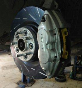 Тормозные диски и колодки EBC Infiniti FX37S и F50