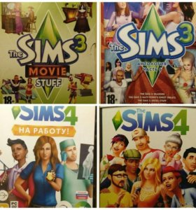 4-ре диска. Игры The Sims