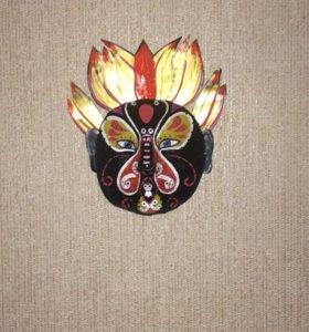 Маска на стену.  Персонаж из пекинской оперы