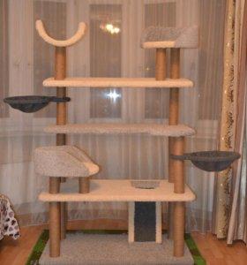 Игровой комплекс, когтеточка, домик для кошки