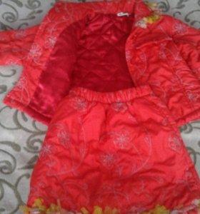 Модный комплект на  осень для девочки 4-5 лет.