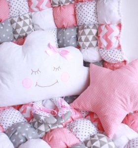 Одеяла, бортики, бомбон, постельное белье
