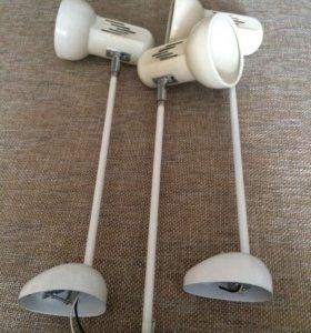 Продаются светильники вместе с лампочками