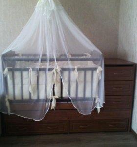 Продам кроватка трансформер  2в1