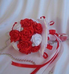 Свадебный букет ручной работы