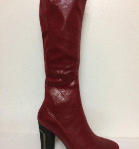 Новые сапоги чулки Elcherry красные