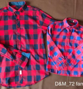Рубашки папа и сын новые