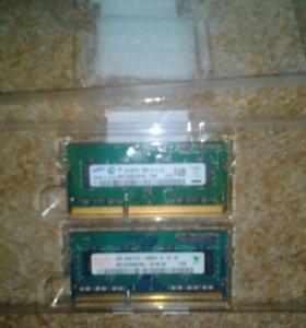 DDR3 3гига Оперативка цена за две