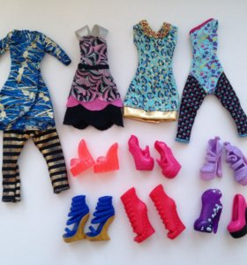 Одежда и обувь для кукол Monster High (500 за всё)