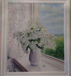 """Картина """"Сирень на окне"""""""