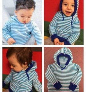 Новый ручной вязки свитер