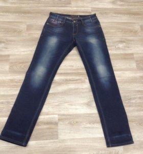 Утеплённые фирменные джинсы Paul & Shark