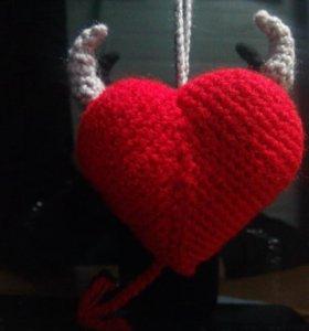 Сердце вязаное