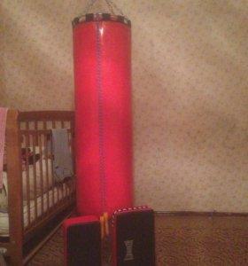 Боксерский мешок 70 кг и лапы