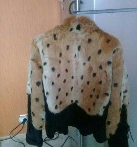 Куртка замша с натуральным мехом