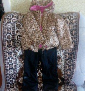 Детская куртка со штанишками для девочки