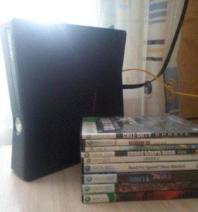 XBOX 360+9 игр
