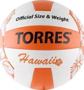 Мяч для пляжного волейбола Torres Hawaii.