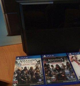 Playstation4 500GB+Игры