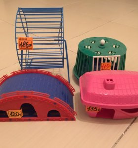 Домики и колесо для хомяков