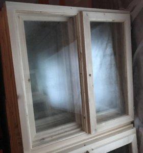 Окна деревянные с фурнитурой