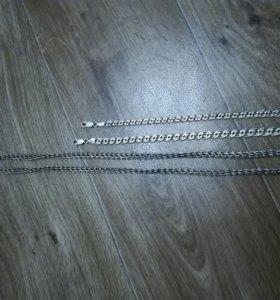 Цепь и браслеты(серебро)