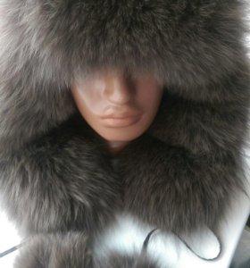 Куртка пуховик + шапка  ушанка.