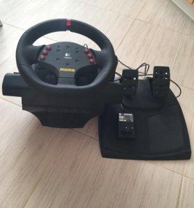 Logitech MOMO racing ( руль+педали)