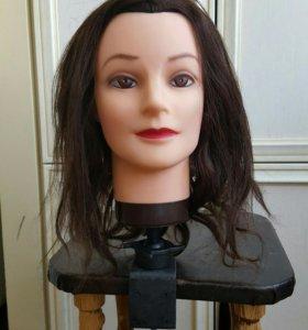Парикмахерский манекен с натуральными волосами