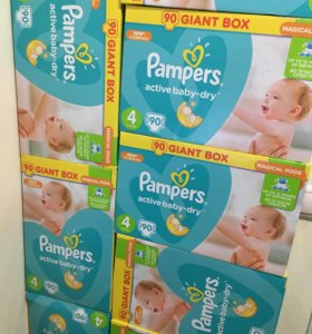 Pampers active baby-dre 4   90 шт