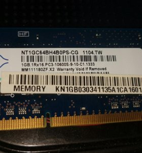 ОЗУ DDR 3 Nanya 1Гб