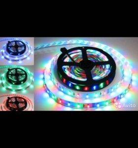 Светодиодная лента RGB для интерьера . Опт/розн