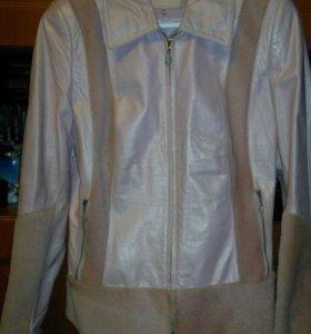 Куртка кожаная, утепленная