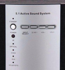 Акустическая система 5.1 Sven HT-435D Brown