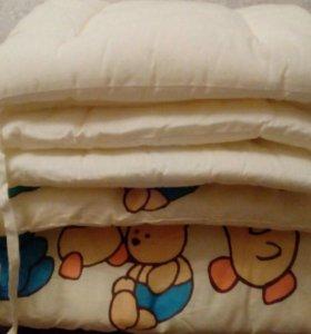 Бортики плотные для детской кроватки.