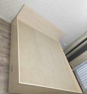 Кровать двуспальная с ящиками для белья